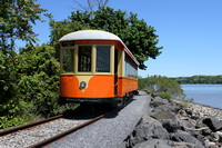 Trolley along the Hudson